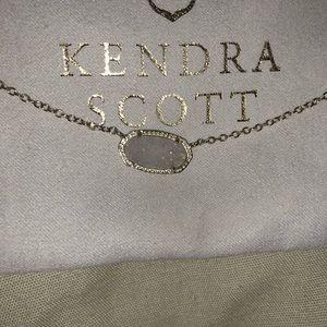 Kendra Scott White Druzy Necklace
